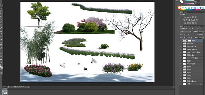 園林景觀中植物後期制作素材psd2(1)