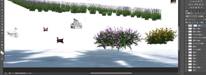 園林景觀中植物後期制作素材psd2(3)