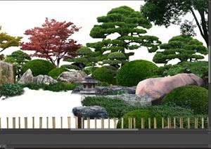 造型树日式组景园林景观后期制作psd