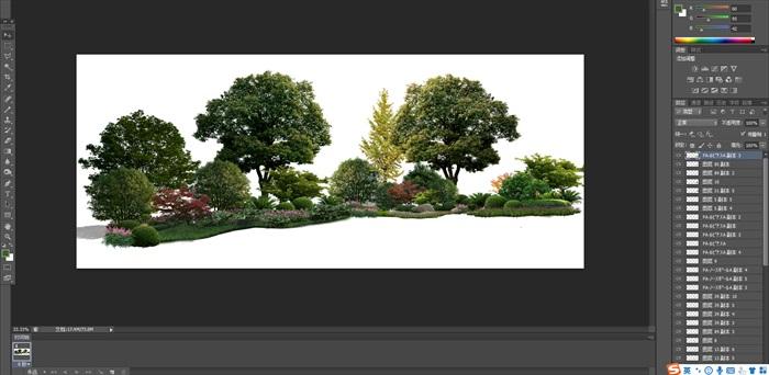 植物花卉景觀組景園林后期制作素材psd(1)