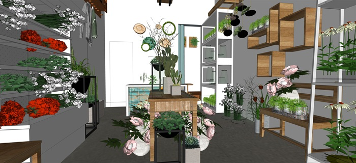 鮮花店設計精品素材模型2su(4)