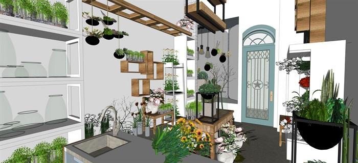 鮮花店設計精品素材模型2su(5)