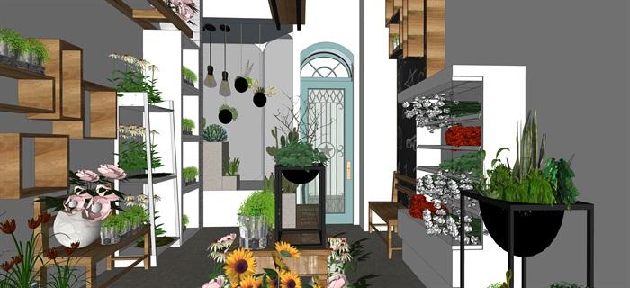 鮮花店設計精品素材模型2su(6)