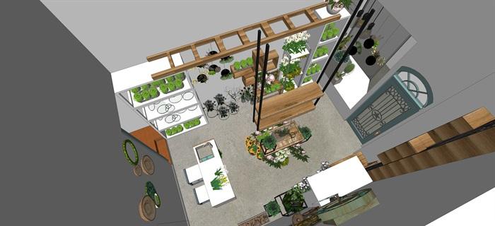鮮花店設計精品素材模型2su(7)