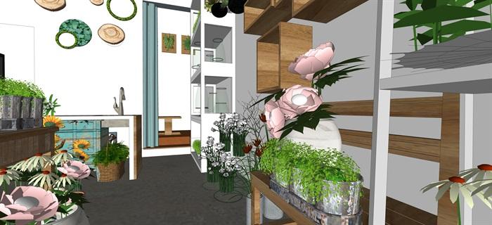 鮮花店設計精品素材模型2su(8)