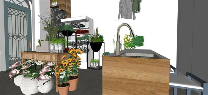 鮮花店設計精品素材模型2su(9)