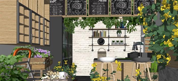 鲜花店设计精品素材模型su(10)