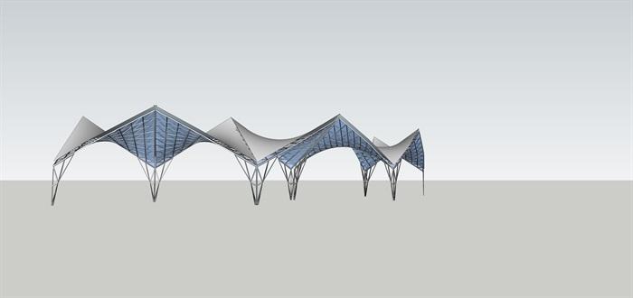 聯片張拉膜的SU素材模型(1)