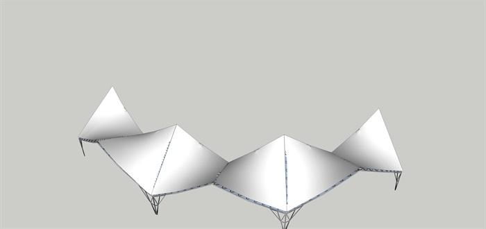 聯片張拉膜的SU素材模型(2)
