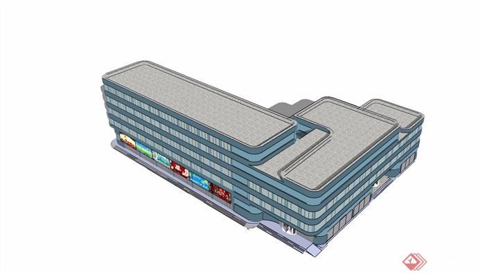 現代風格詳細的完整酒店設計su模型