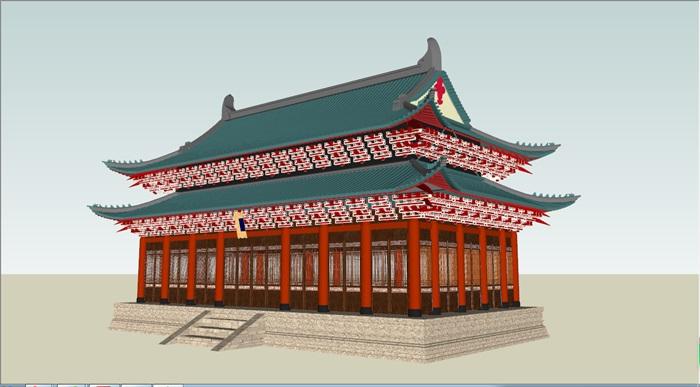 重檐歇山顶古建筑(1)