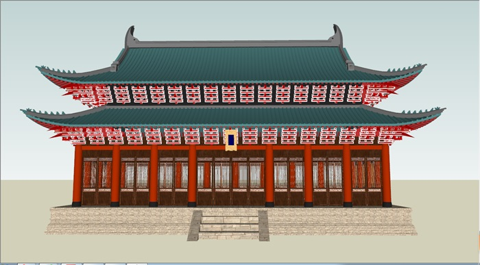 重檐歇山顶古建筑(3)