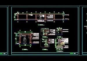 cad弧形廊架做法施工图