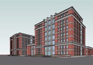 经典的完整详细的住宅完整酒店设计SU(草图大师)模型