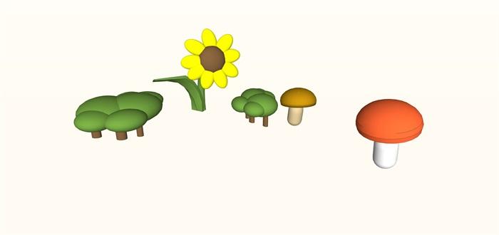儿童室内娱乐仿真花植物su(1)