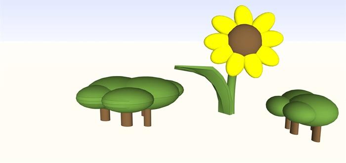 儿童室内娱乐仿真花植物su(2)