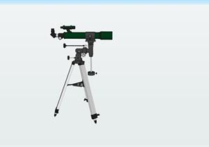 望远镜精细精品模型SU(草图大师)