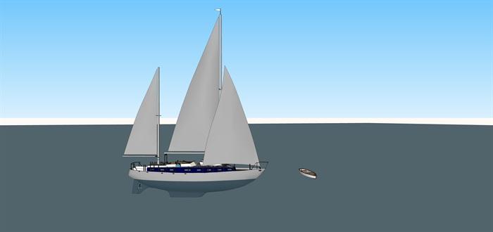 游艇帆船精细精品模型su(1)