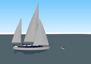游艇帆船精细精品模型SU(草图大师)