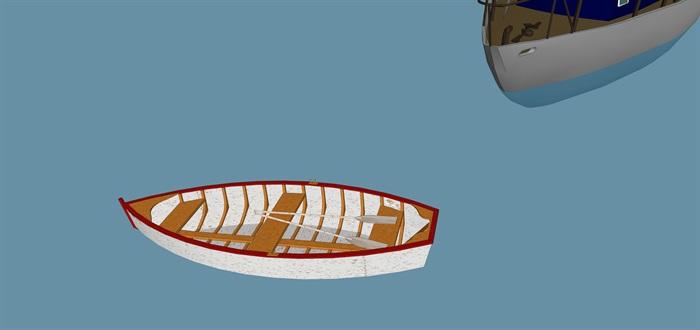 游艇帆船精细精品模型su(4)