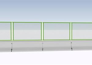 高速公路铁丝网护栏SU(草图大师)模型