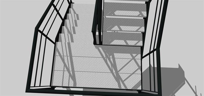工业旋转楼梯SU模型(3)