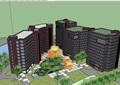 現代風格詳細的小區高層建筑樓設計su模型