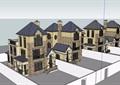英式風格雙拼住宅完整別墅設計su模型