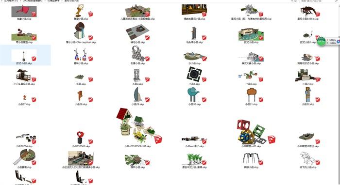 各种景观小品SU模型集合(3)