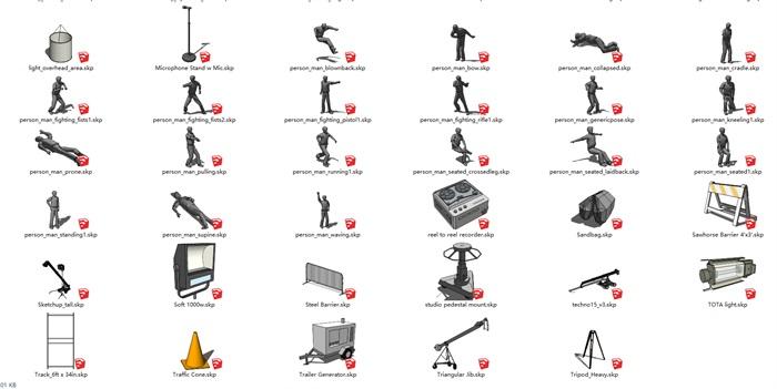 各种摄影舞台用品SU集合(2)