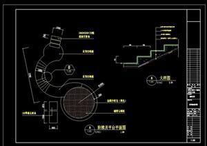 某现代阶梯cad剖面详图