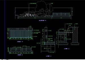 园林景观园桥素材设计cad施工图