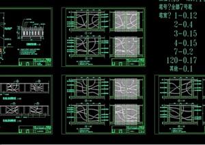 景观节点完整的挡土墙素材设计cad施工图