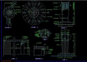 园林景观节点灯柱素材设计cad施工图