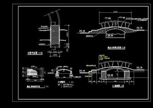 过河园桥详细完整设计cad施工图