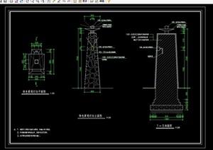 特色景观灯柱设计cad施工图