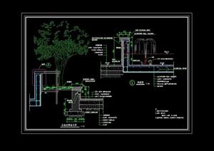 园林景观节点水池设计cad施工图