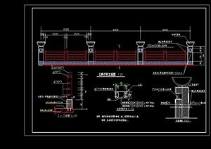 某详细的公路栏杆设计cad施工图