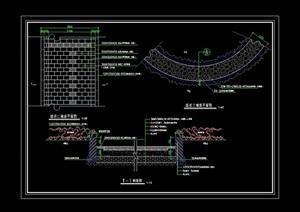 詳細的道路景觀鋪裝設計cad施工圖