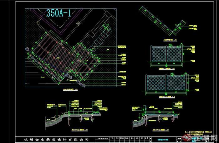 别墅区样板区景观设计cad施工图
