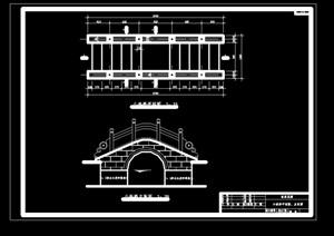 拱桥详细的完整设计cad施工图