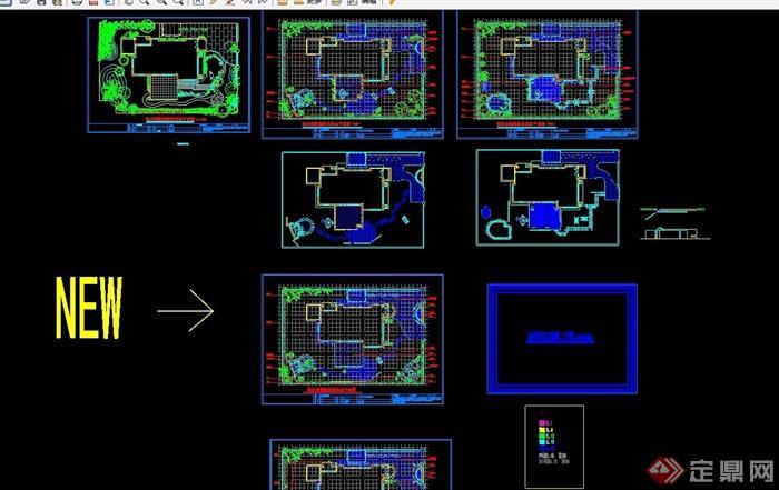 别墅庭院景观设计cad方案图