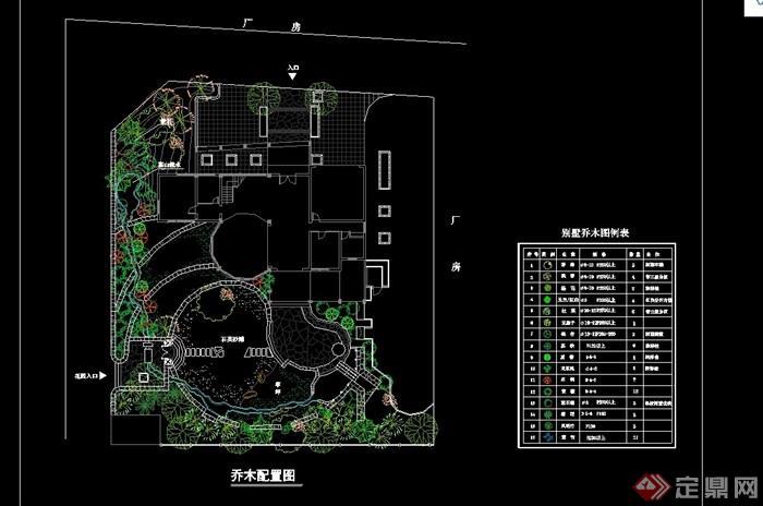 别墅庭院景观设计cad施工图