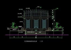 详细的台阶及石灯设计cad施工图
