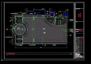 详细的完整泳池、灯箱素材cad施工图