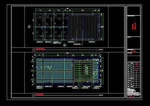 详细的整体花架凉亭设计cad施工图