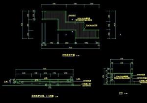 详细的木质园桥素材设计cad施工图