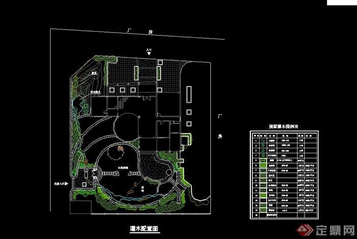 某别墅庭院景观设计cad方案天正打开