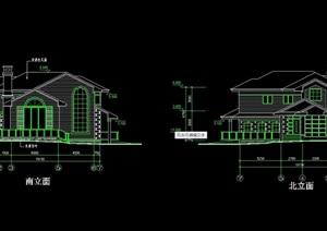 欧式风格详细的多层别墅cad方案图