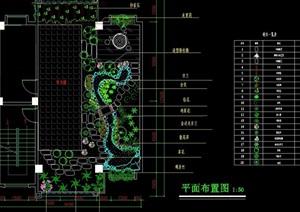 详细的完整屋顶花园景观设计cad方案